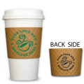 custom printed coffee cup sleeves 2 color front and back