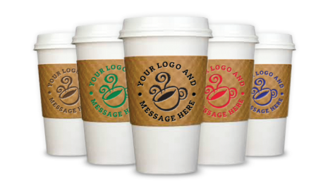 printed coffee cup sleeves