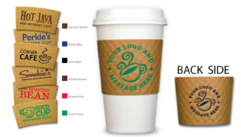 print front and back printed coffee cup sleeves