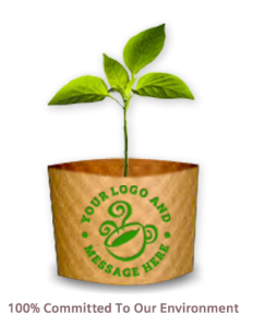 custom printed coffee cup sleeve environmentally safe eco friendly