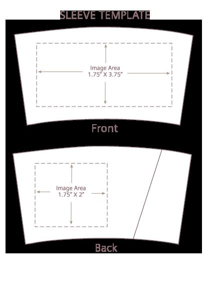 1 Color Front Back sleeves printed by custom printed coffee cup sleeves