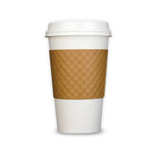 Plain Cup Sleeves Recycled Avail In Tan Amp White Top Quality